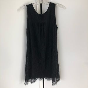 Velvet Lace Black Dress